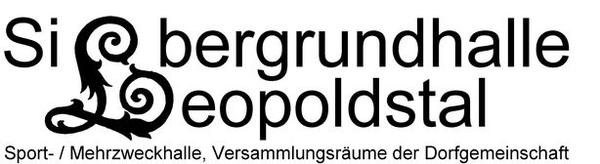 Logo Silbergrundhalle Leopoldstal Text