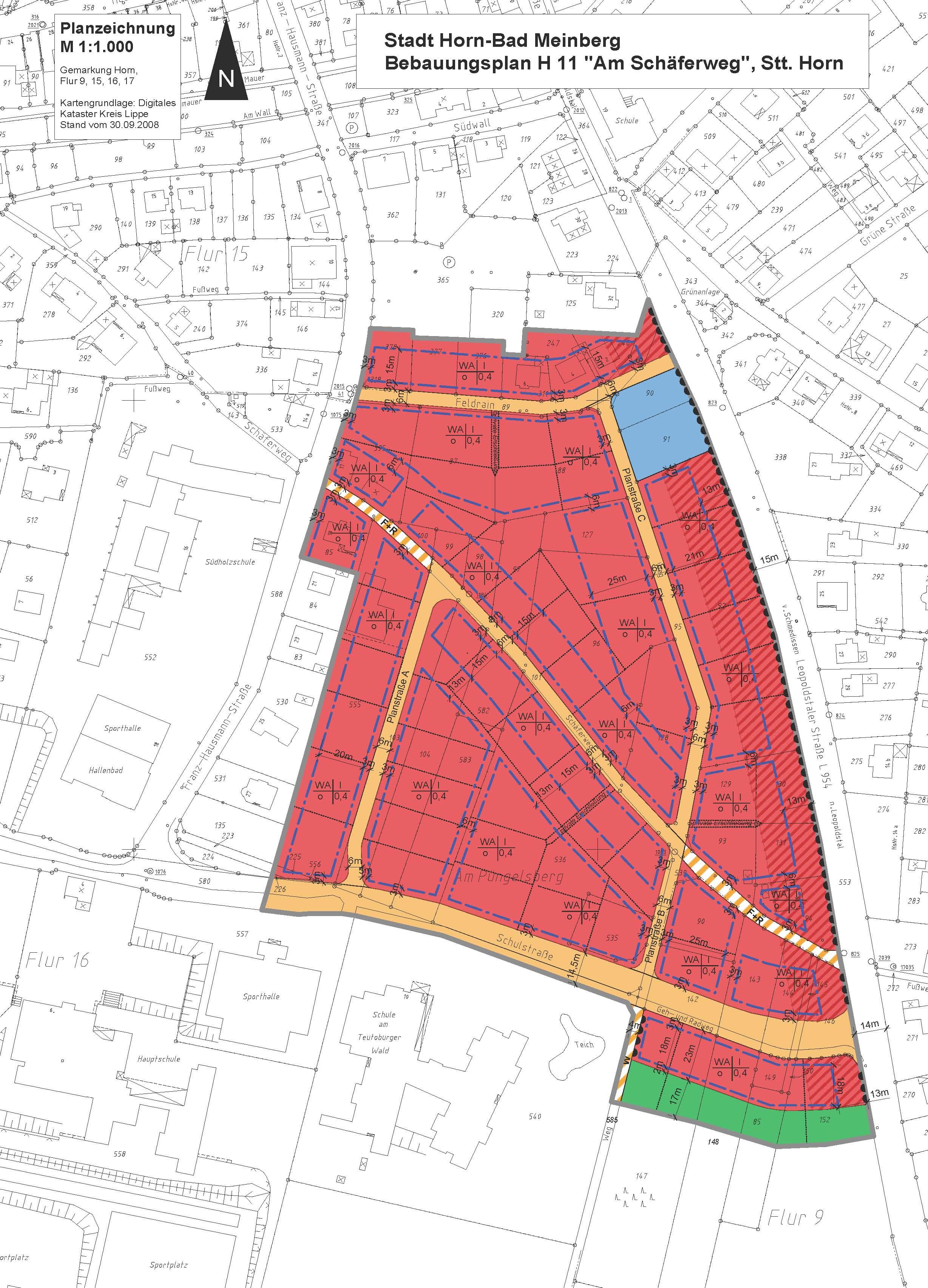 Bebauungsplan H 11 Planzeichnung final